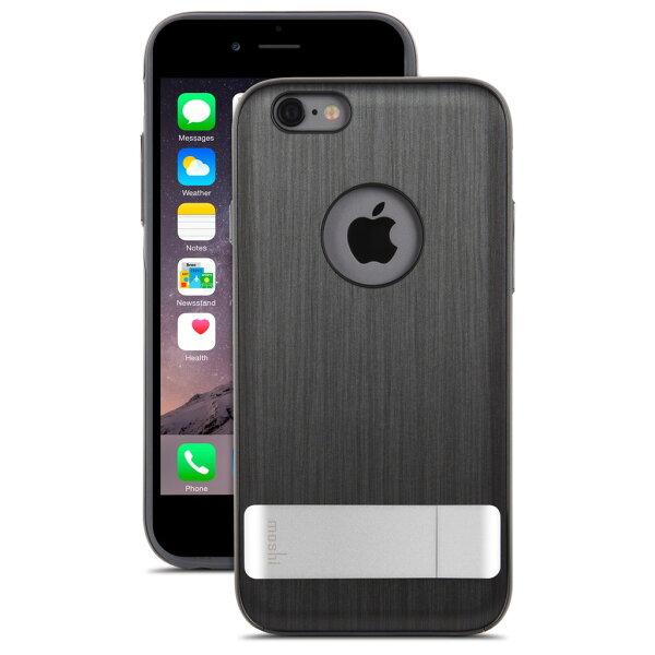【moshi】iGlaze Kameleon iPhone6 PLUS 黑 鋁合金立架式保護背蓋