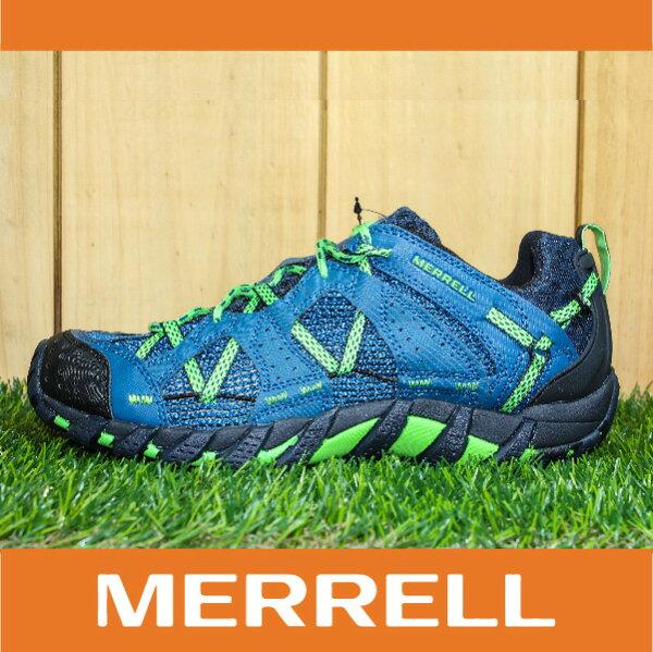 萬特戶外運動 MERRELL WATERPRO MAIPO 水陸兩用鞋 男款 低筒健行鞋 快乾透氣 藍綠色