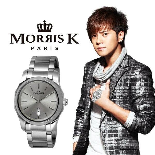 【Morris K】羅志祥代言 都會經典時尚腕錶 (男款) MK11025-JA20