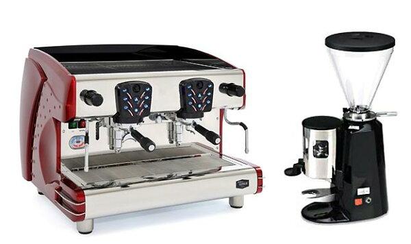 咖啡機出租LA SCALA 義大利雙孔半自動營業用咖啡機【Tosca-A2】+磨豆機 (每個月租購只要5500元)--【餐廳咖啡外帶適用的咖啡機】
