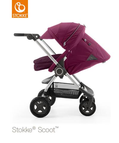 【本月贈市價$1050杯架】【贈Borny安全帶護套(花色隨機)】Stokke Scoot 2代嬰兒手推車(紫色) 2