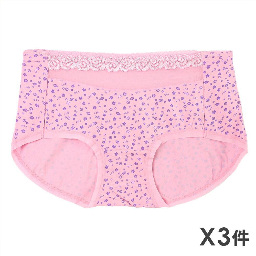 3件199免運【AJM】莫代爾纖維 透膚玫瑰無痕貼身褲3件組(隨機色) 0