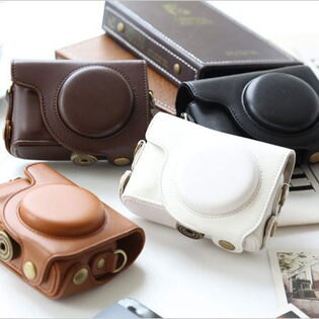 Olympus XZ-10 XZ10 復古亮面包覆相機皮套 相機包 附同色背帶 相機套 兩段式可拆 【B511470】