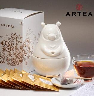 ARTEA[茶禪ㄧ味]白瓷Tea熊罐(日月潭紅玉琥珀3gX12包) - 限時優惠好康折扣