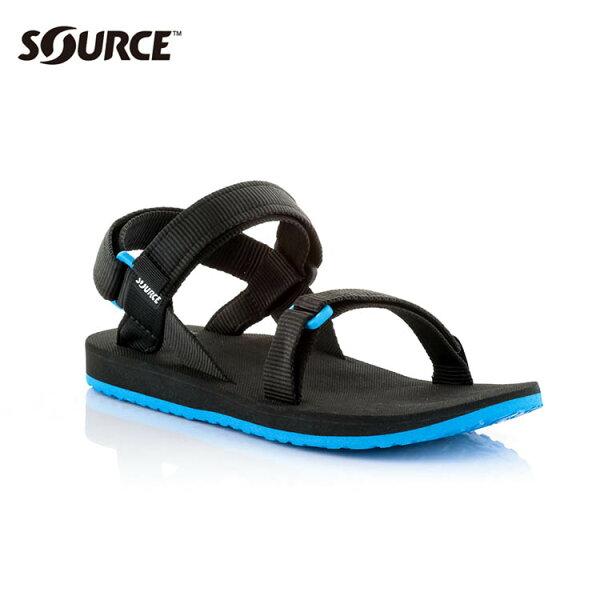 SOURCE 男URBAN織帯涼鞋10109100【黑藍】 / 城市綠洲(織帶+一體成型+輕量+快乾+抑菌)