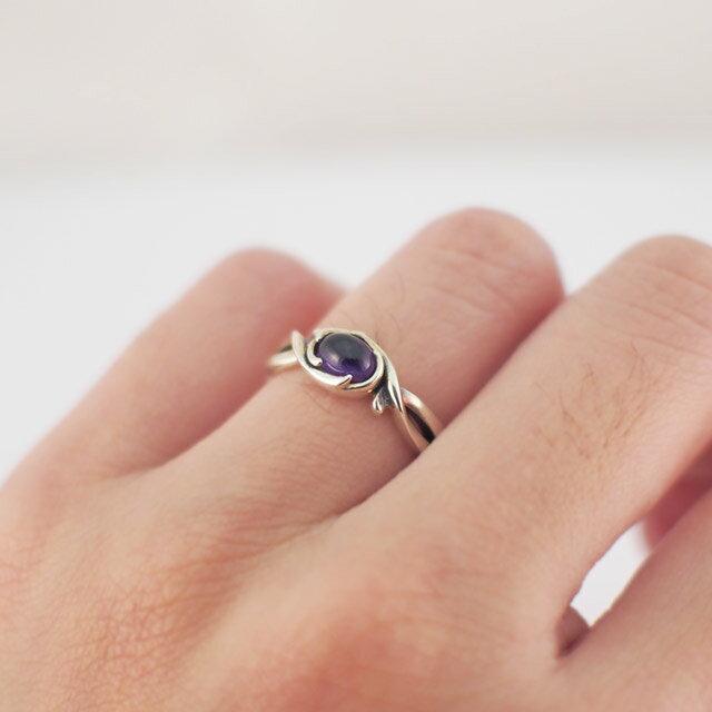【海外訂購】【Bloody Mary】Arsu 紫水晶純銀戒指 (BMR1378-Acab) 1