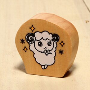 「kodomo小孩牌」新年系列-q版小羊印章-期待小羊