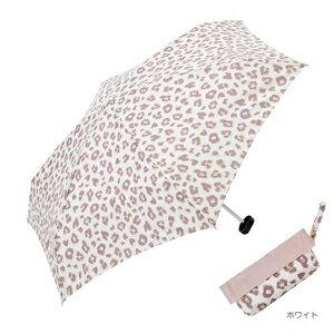 日本 because 風格折疊傘 - 粉豹紋(白色)