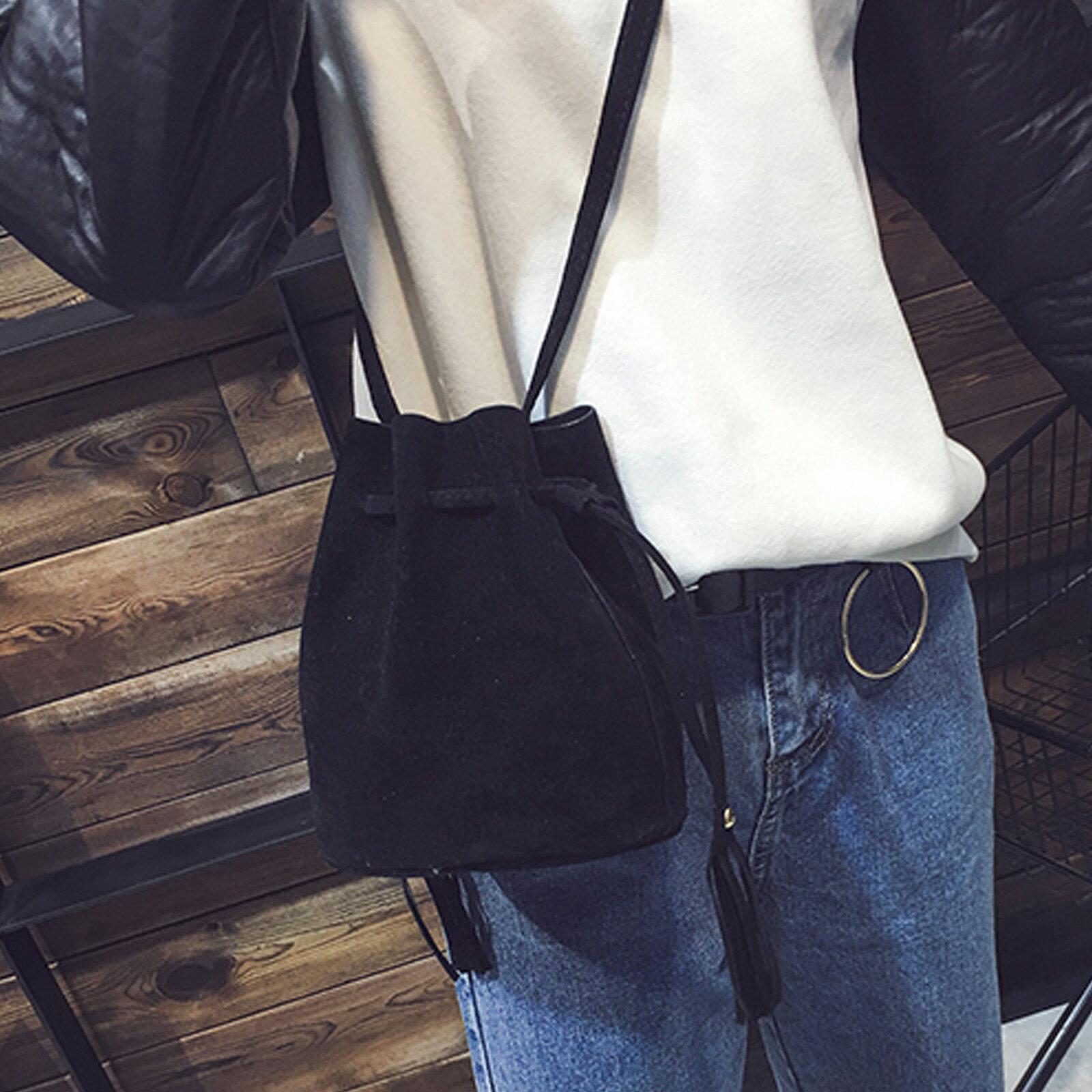 側背包 麂皮絨流蘇單肩水桶包【O3223】☆雙兒網☆ 2