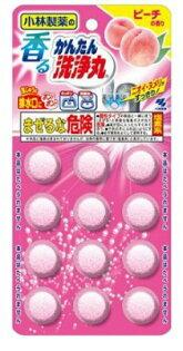 小林製藥 排水管除垢錠-水蜜桃(12錠)