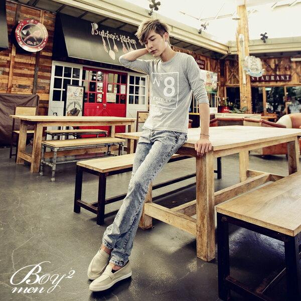 ☆BOY-2☆ 【PPK86016】韓式N8印花長袖T恤 3