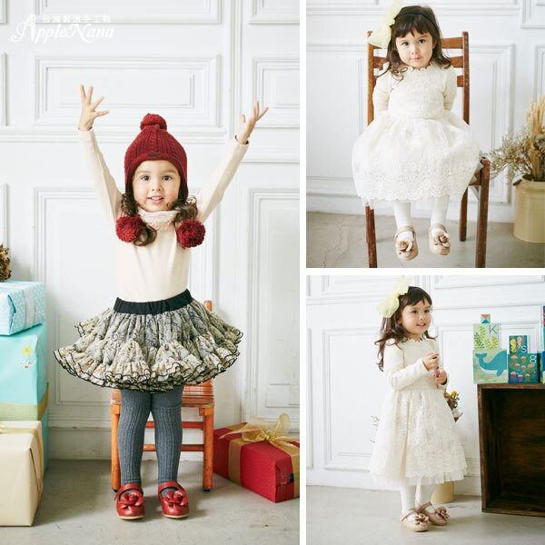 AppleNana。MIT手工童鞋。盛開手工玫瑰全真皮娃娃鞋【QBC70361080】蘋果奈奈 3