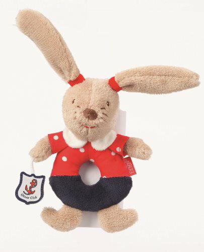 德國【BabyFEHN】海洋樂園圈圈航海兔布偶手搖鈴 - 限時優惠好康折扣