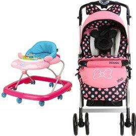 ViVi Baby - Disney迪士尼米妮推車優惠組 (米妮推車+藍/粉學步車) 0