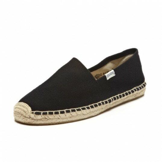 【Soludos】美國經典草編鞋-基本款草編鞋-黑 0