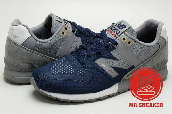 ☆Mr.Sneaker☆NEW BALANCE MRL996 熱熔 REVlite中底 輕量 無縫輕量透氣網布 男款 藍灰