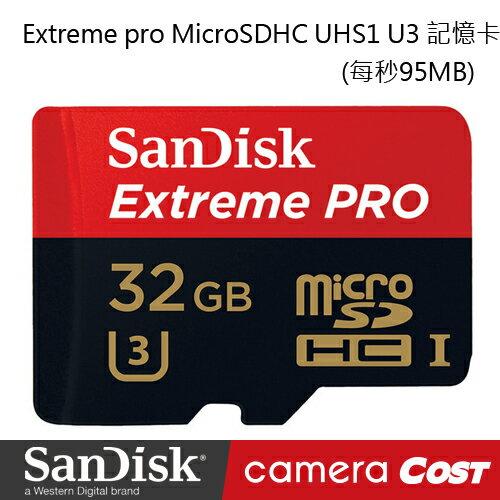 SanDisk Extreme pro MicroSDHC UHS1 U3 32G 記憶卡95mb/s