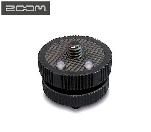 """又敗家@日本ZOOM熱靴轉接座HS-1(將Hot Shoe熱靴座轉1/4""""螺絲1/4吋螺絲 1/4英吋公螺牙)裝指向麥克風MIC液晶顯示器收音器錄音器太陽燈LED燈接收器另一台單眼相機微單輕單類單"""