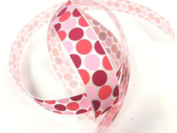 【Crystal Rose緞帶專賣店】單面緞點點15mm3碼裝(3色)