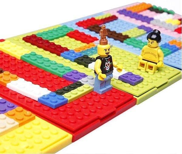 =優 =((我最 ))拼出自我色彩 堆疊樂高積木鏡子 拼湊字母 數字 圖形隨身鏡 ~  好