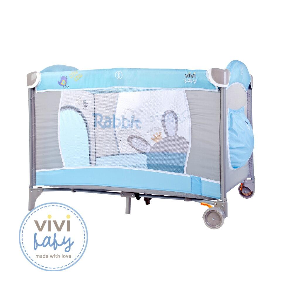 ViViBaby - 王子兔雙層遊戲床 (附蚊帳) - 限時優惠好康折扣