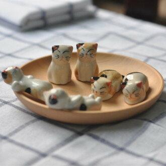 可愛貓咪陶瓷擺飾 0