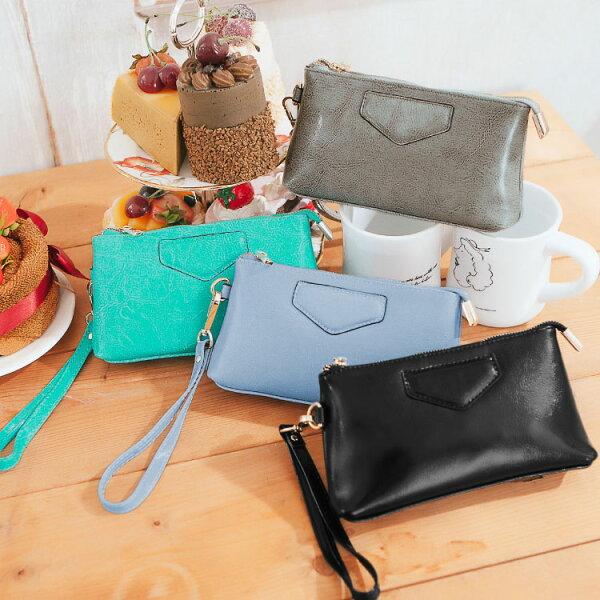 質感仿真皮萬用小包,時尚簡約款收納包 化粧包 零錢手掛包 可放iphone6s 護照 89.Alley ☀4色