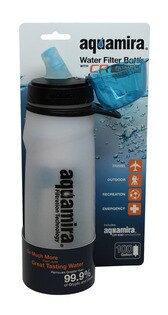 【露營趣】McNett Aquamira Water Treatment Bottle & Filter 25oz 活性碳濾水瓶 自行車 運動水壺 41210