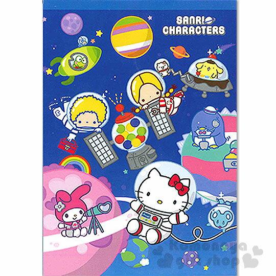 〔小禮堂〕Hello Kitty 便條本《深藍.太空.美樂蒂.Patty&Jimmy》Sanrio55週年系列