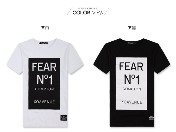 ☆BOY-2☆【PPK82107】短袖T恤美式休閒型男素面色塊FEAR N1短T 2
