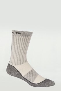 《台南悠活運動家》icebreaker 紐西蘭 男中筒中毛圈戶外健行襪 水銀灰 IB100164-H32