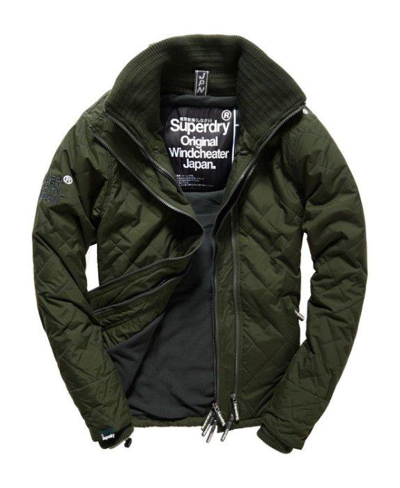 [男款] 英國代購 極度乾燥 Superdry Quilted Arctic Windcheater 男士 絎縫防風衣夾克 森林綠 0