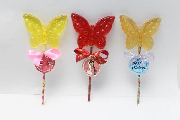 蝴蝶造型麥芽籤 30g/支 - 余大叔麥芽餅