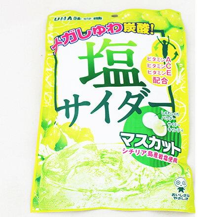 [敵富朗超市]UHA味覺糖鹽分青葡萄蘇打糖(63g) 0