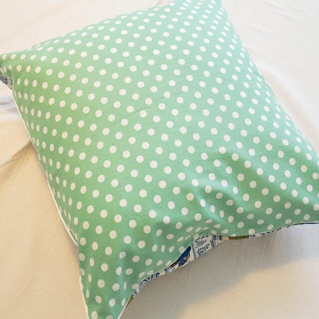 青草綠點點抱枕  45cmx45cm 精選素材 復古 純棉 4