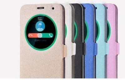 華碩 Zenfone2 Laser 5.5吋 ZE550KL 開窗蠶絲紋 智能休眠皮套【預購】