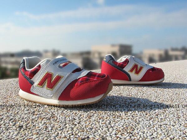 Shoestw【FS996CCI】NEW BALANCE 996 學布鞋 童鞋 運動鞋 小童 紅格紋