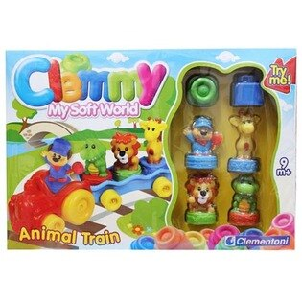 *babygo*Clemmy義大利原裝進口軟積木-動物火車組14818