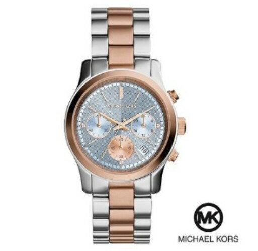 美國Outlet 正品代購 Michael Kors MK 三眼 雙色精鋼 滿鑽 手錶 腕錶 MK6166 0