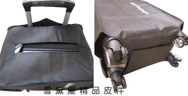 ~雪黛屋~Allez-Voyager行李箱防塵套防潑水套全貼合包覆型後自由推拉高密度織布簡單收納調整便利#8909(小)