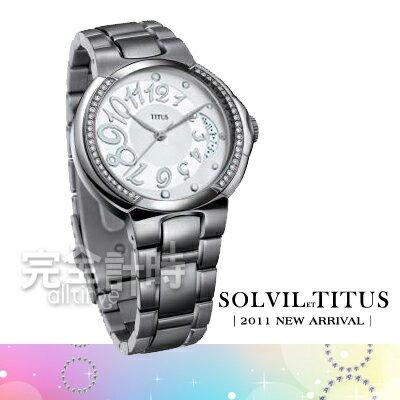 【完全計時】手錶館│TITUS 鐵達時 時尚美感優雅品味晶鑽錶 06-1122-001