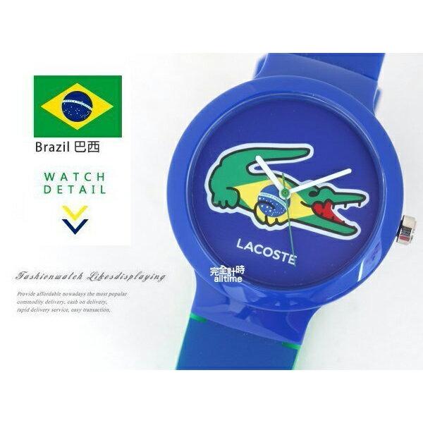 【完全計時】手錶館│Lacoste 國旗系列世足賽熱血激戰腕錶 國旗系列L2020069 巴西