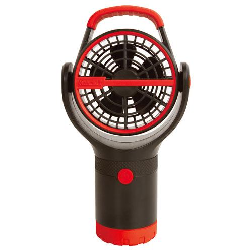 【露營趣】中和 附手電筒 Coleman CM-27315 BATTERYLOCK杯架風扇/萊姆綠 電風扇 小吊扇