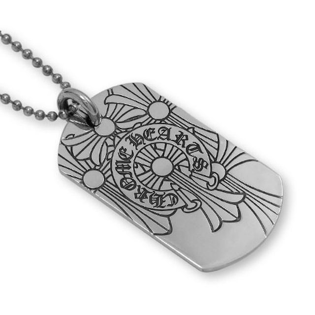 【現貨商品】【Chrome Hearts】God bless the world 經典LOGO純銀軍牌項鍊(CHDT-019  0095000000) 4