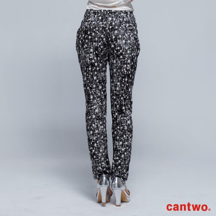 cantwo星星磨毛感中腰小直筒褲(共兩色) 3