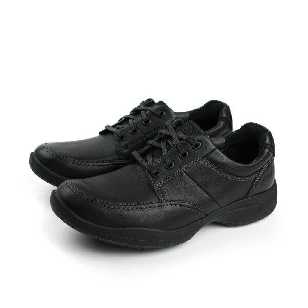 Clarks Wavekorey Mix 皮革 舒適 氣墊 抗震 紳士 戶外休閒鞋 黑 男款 no705
