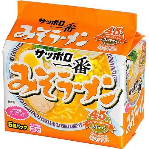 [日本北海道札幌拉麵]三洋札幌一番5入包麵-味噌 (500g)