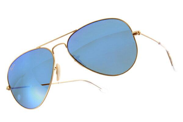 Ray Ban 雷朋 水銀鍍膜金邊藍鏡 太陽眼鏡 RB3025 3