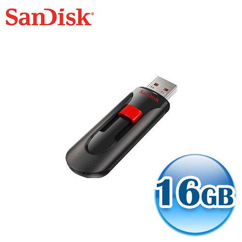 SanDisk Cruzer Glide CZ60 16GB 黑 16G 隨身碟  [天天3C]