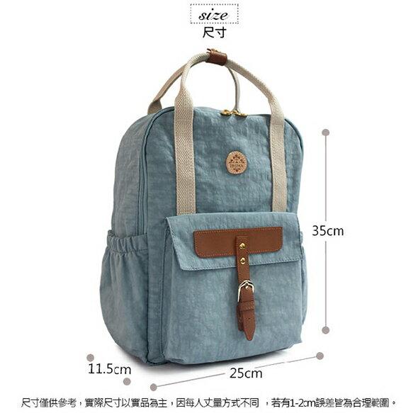 ★CORRE【JJ025】簡約皮革後背包★ 深藍/海軍灰/情人紅 共三色 2